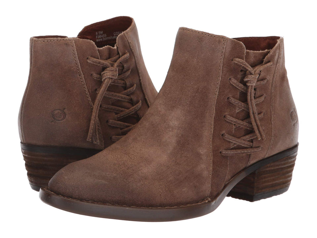 Born Womens Bessie Booties-Taupe