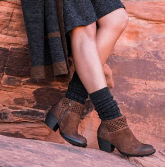 Born Winema Booties-Rust Distressed