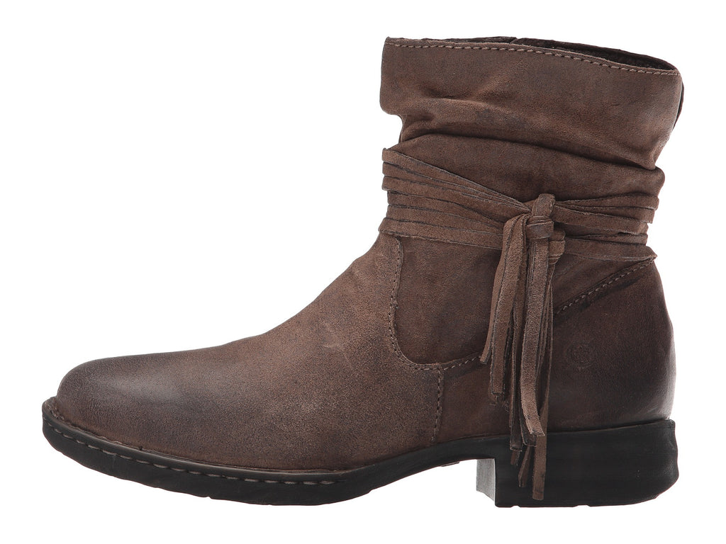 born womens cross ankle boot taupe distressed bennett s clothing