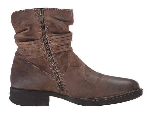 Born Womens Cross Ankle Boot-Taupe Distressed - Bennett's Clothing - 4