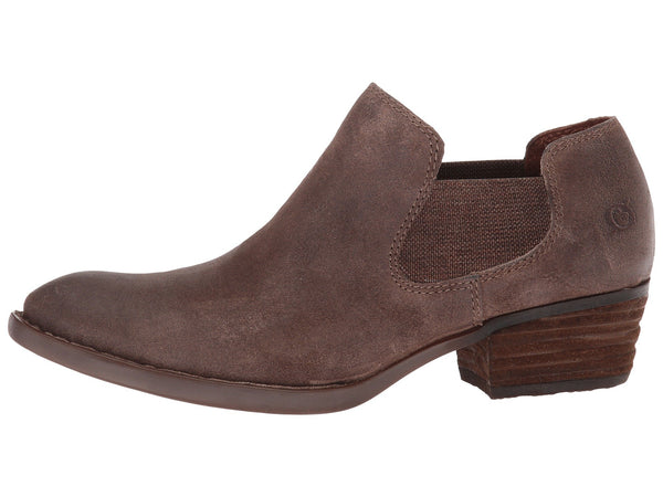 Born Womens Dallia Pull-on Bootie-Taupe Distressed