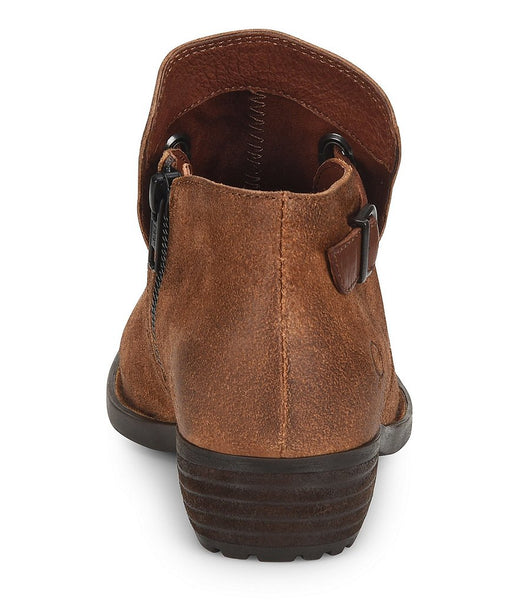 Born Womens Kristina Pull-on Bootie-Rust