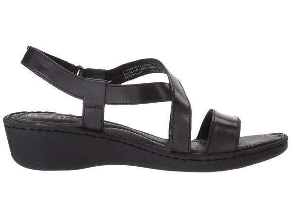 Born Idella Wedge Sandal-Black