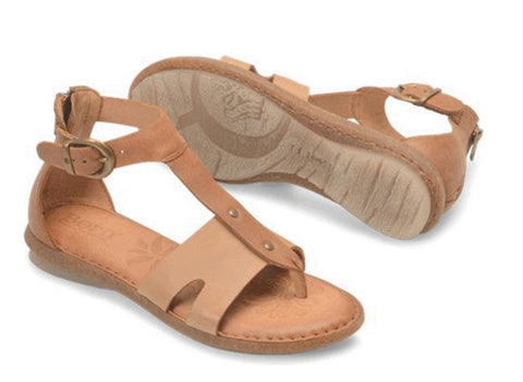 Born Womens Timina Sandal-Taupe/Rust