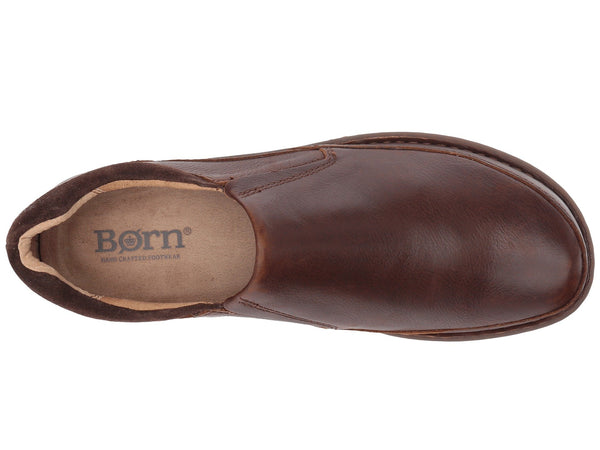 Born Men's Nigel Slip-on Shoe-Brown-Dark Brown