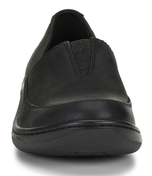 Born Womens Lex Leather Slip-on Shoe-Black Abyss