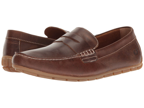 Born Men's Andes Penny Loafer-Dark Brown