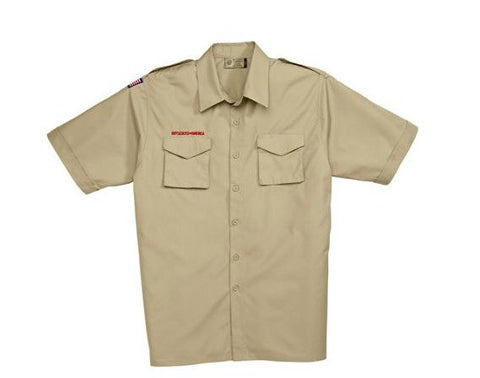 Boy Scouts Adult Short Sleeve Uniform Shirt-Tan - Bennett's Clothing