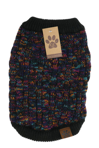 CC Beanie Mixed Pattern Dog Sweater -Shop Bennetts Clothing for the brands you know and love.