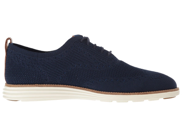 Cole Haan Grand Stitchlite Wingtip Oxford-Navy/Ivory