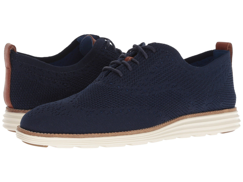 Cole Haan Original Grand Stitchlite Wingtip Oxfords are lightweight and made for the sharp dressed man. Shop Bennett's Clothing for the brands you want with prices you will love.