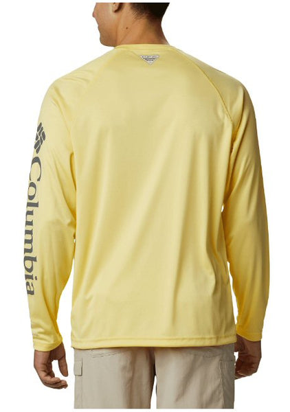 Columbia PFG Long Sleeve Heather Terminal Tackle T-Shirt-Sunlit-Grey