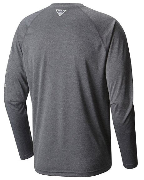Columbia PFG Long Sleeve Heather Terminal Tackle T-Shirt-Charcoal