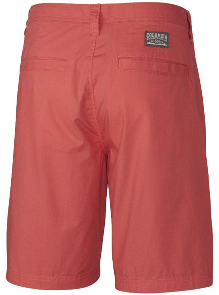 "Columbia Men's Washed Out 8"" Short-Sunset Red"
