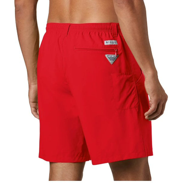 "Columbia PFG Backcast III Mens 6"" Water Short-Red Spark"