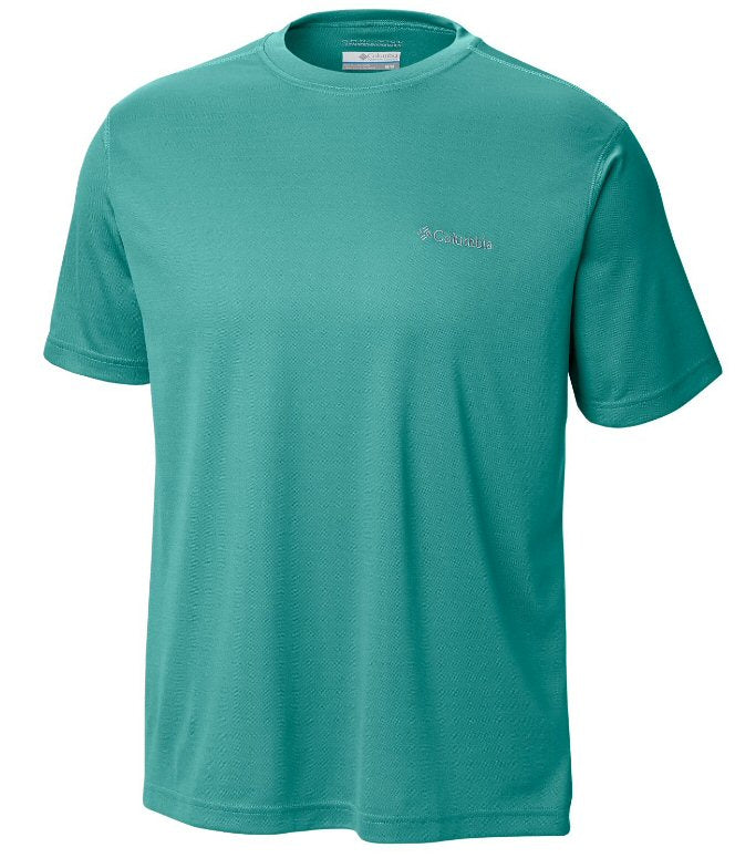 Columbia Meeker Peak short sleeve t-shirts are a must to stay cool when on the water or trail. Shop Bennetts Clothing for a large selection of mens outdoor shirts and shorts