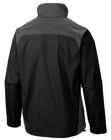 Columbia Mens Glennaker Lake Rain Jacket-Black-Grill