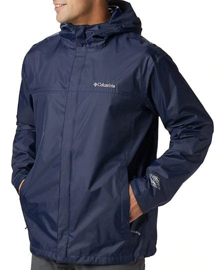 Columbia Mens Watertight II Rain Jacket-Collegiate Navy
