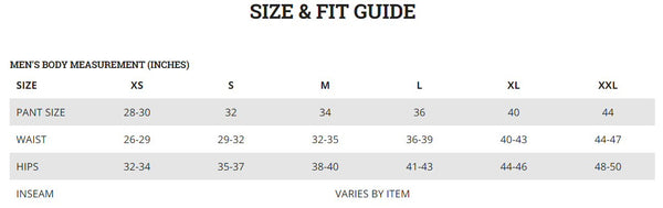 Columbia mens Size Chart from Bennetts Clothing. Check out our large selection of outdoor wear from the brands you love