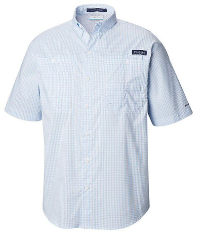 Columbia Super Tamiami short sleeve PFG shirts are a must to protect yourself and stay cool when on the water or trail. Shop Bennetts Clothing for a large selection of mens outdoor shirts and shorts