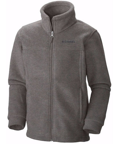 Columbia Boy's Steens Mountain II Fleece Jacket-Charcoal