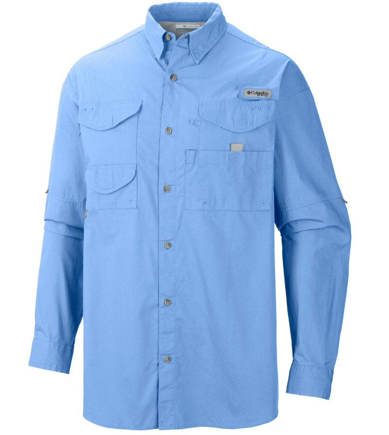 Columbia Sportswear PFG Long Sleeve Bonehead Shirt-White Cap