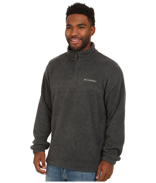 Columbia Men's Steens Mountain Half Zip Pullover-Charcoal Heather