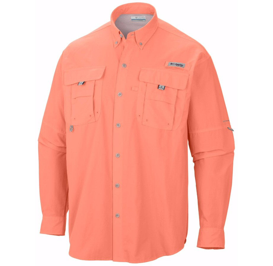 Columbia Sportswear PFG Long Sleeve Bahama II Shirt-Bright Peach - Bennett's Clothing - 1