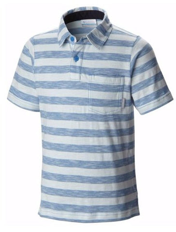 Columbia Boys Lookout Point Polo Shirt-Pacific Blue - Bennett's Clothing - 1