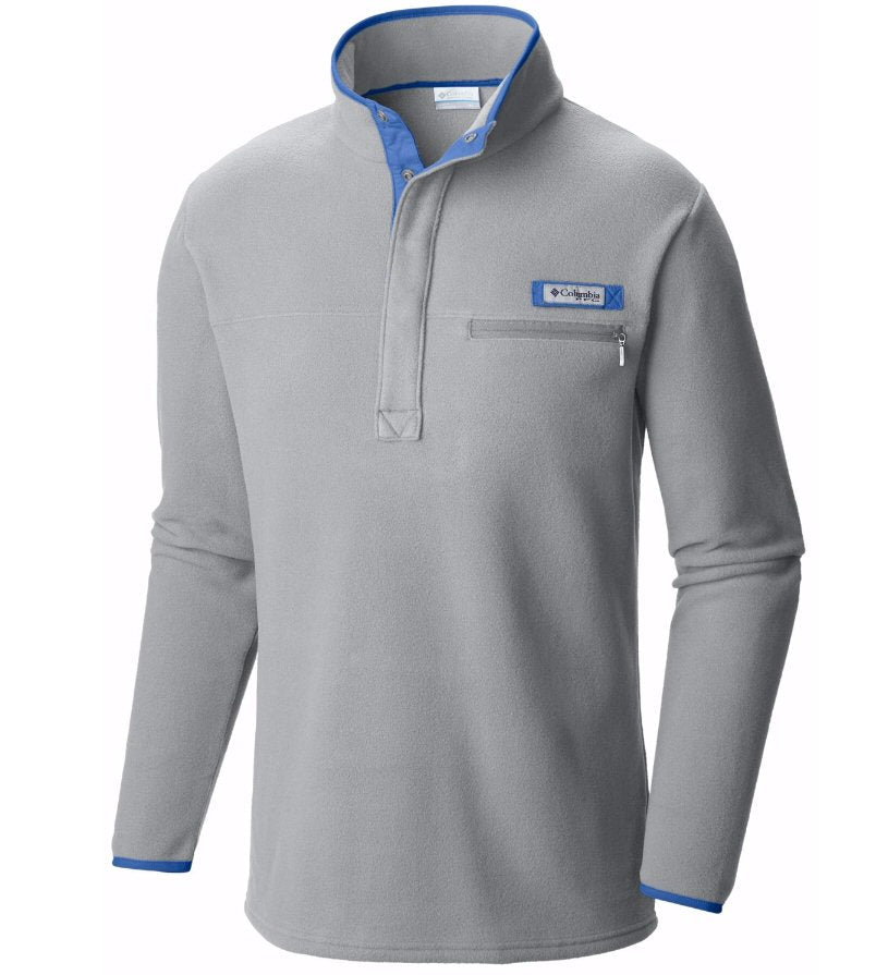Columbia Men's Harborside PFG Fleece Pullover-Cool Grey