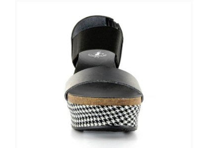 Corkys Houndstooth Wedge-Black - Bennett's Clothing - 2