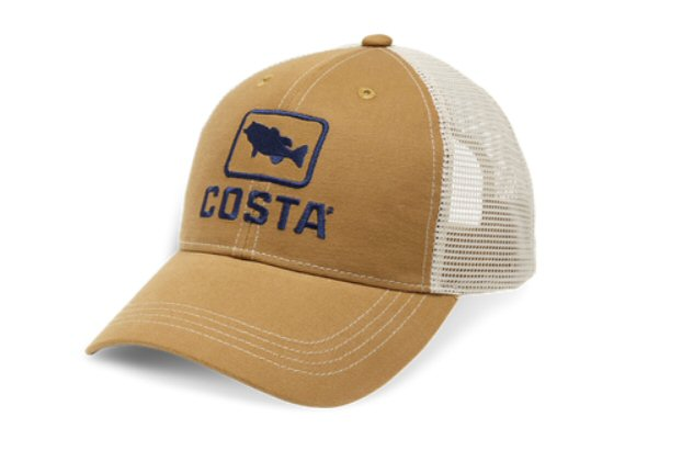 Costa Bass XL Trucker Hat-Working Brown