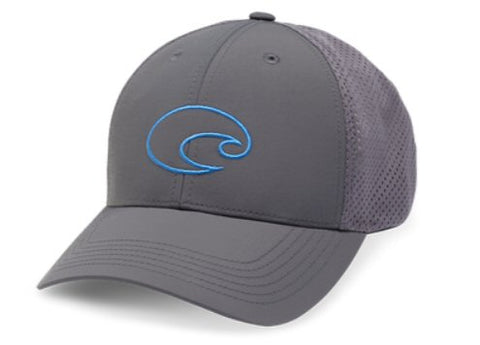 Copy of Costa Structured Performance Logo Trucker Hat-Grey
