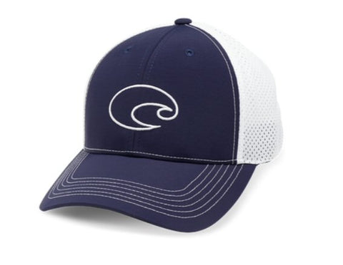 Costa Structured Performance Logo Trucker Hat-Navy