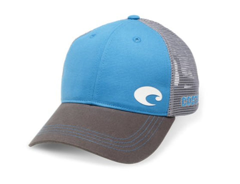 Costa Offset Logo Trucker Hat-Blue Grey