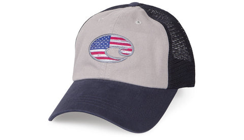 Costa Del Mar United Trucker Hat-Navy-Grey - Bennett's Clothing