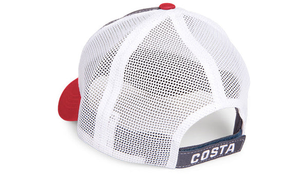 Costa Del Mar United Trucker Hat-White-Red - Bennett's Clothing - 2