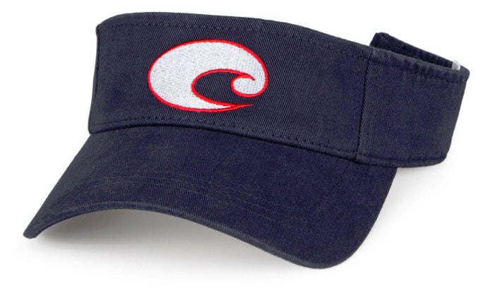 Costa Cotton Visor-Navy-Red-White - Bennett's Clothing