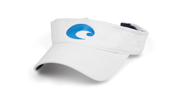 Costa Del Mar Cotton Visor-White - Bennett's Clothing