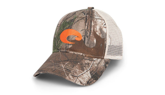 Costa Mesh Trucker Hat-Camo-Stone - Bennett's Clothing