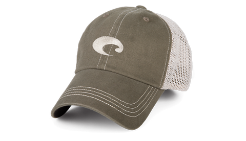 Costa Mesh Trucker Hat-Moss-Stone - Bennett's Clothing