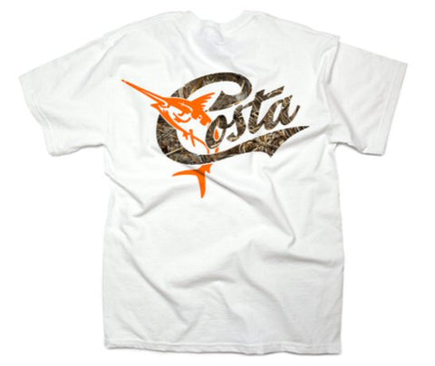 Costa Del Mar Retro Camo T-Shirt-White Max-5