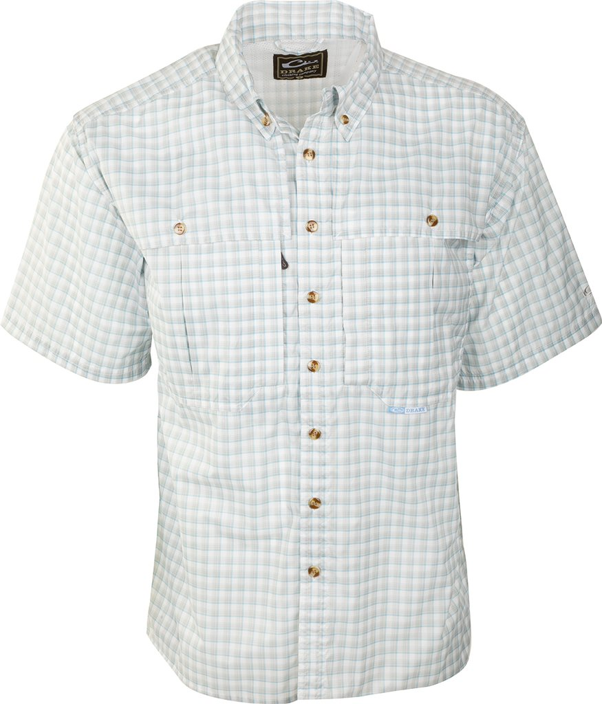 Drake Featherlite Plaid Wingshooter Shirt-Grey