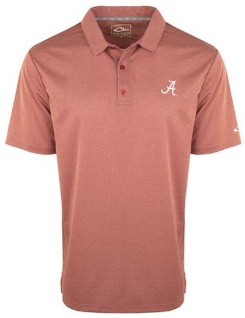 Drake Alabama Heathered Polo was made for all day tailgating and looking your best. Shop Bennetts Clothing for the best in mens outdoor-wear.
