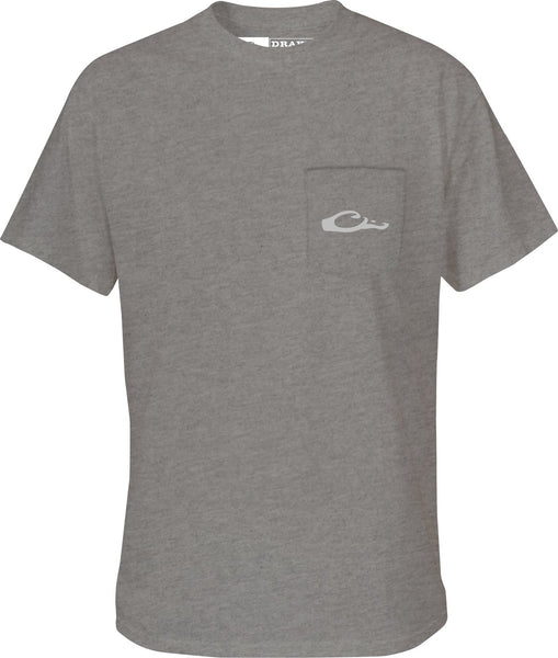 Drake Puddle Duck Collection Short Sleeve T-Shirt-Graphite Heather