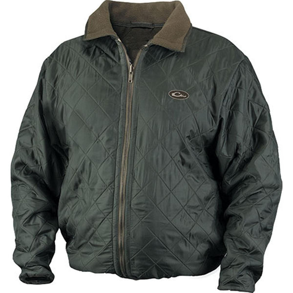 Drake Waterfowl Mens Fleece Lined Quilted Jacket Olive