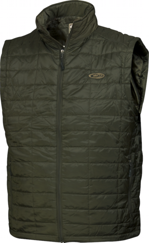 Drake Waterfowl Mens MST Synthetic Down Vest-Olive
