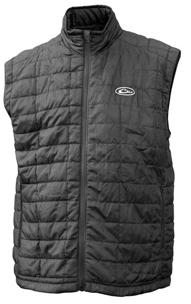 Drake Waterfowl Mens MST Synthetic Down Vest-Black - Bennett's Clothing