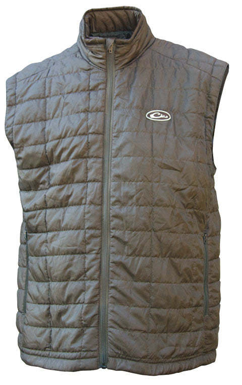 Drake Waterfowl Mens MST Synthetic Down Vest-Brown - Bennett's Clothing