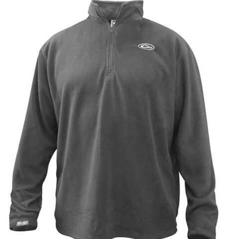 Drake Waterfowl 1/4 Zip Camp Fleece Pullover-Grey